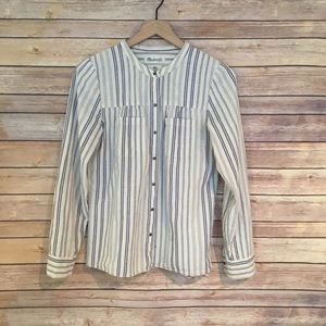 MADEWELL Blue Striped Top